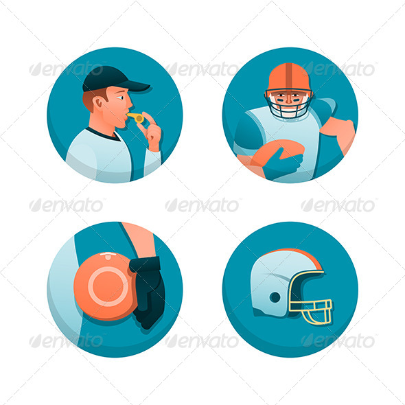 American Football - Sports/Activity Conceptual