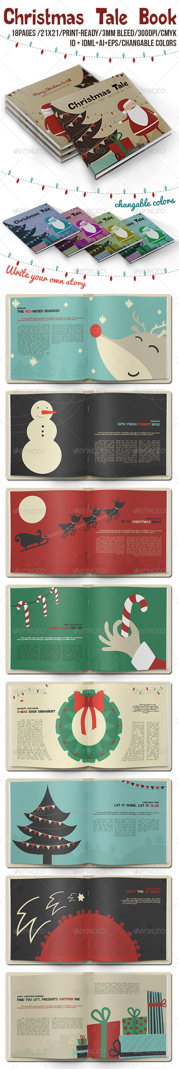 Christmas Tale Book - Miscellaneous Print Templates