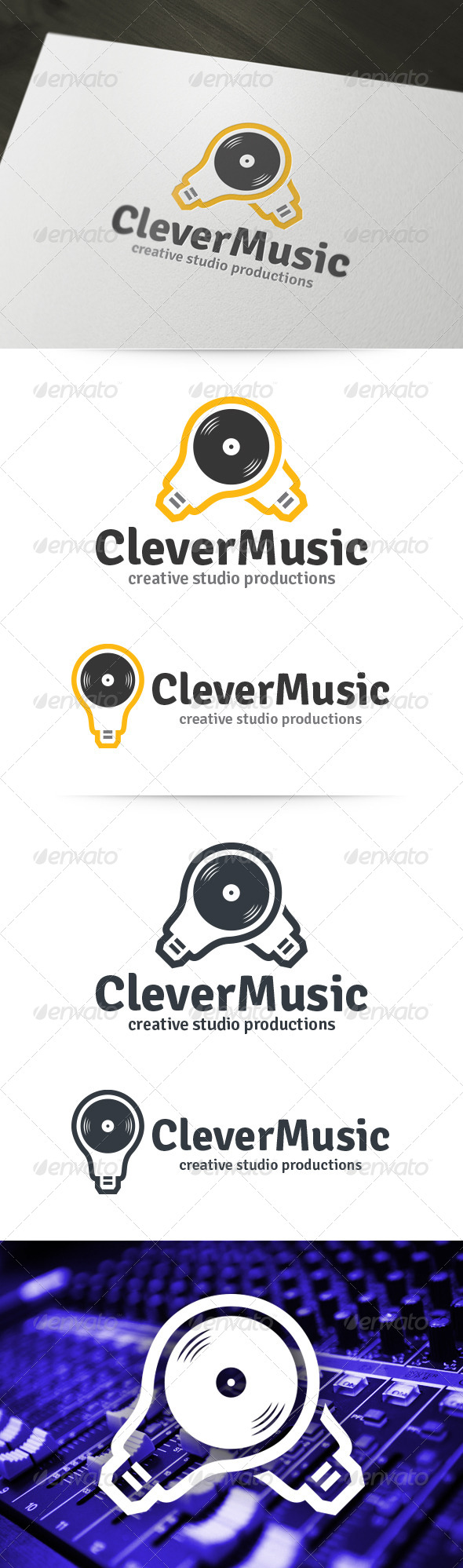 Clever Music Logo - Objects Logo Templates