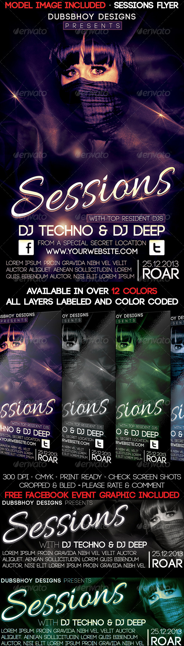 Sessions Flyer - Events Flyers