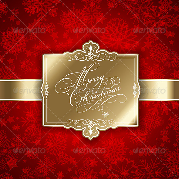 Christmas Label Background - Christmas Seasons/Holidays