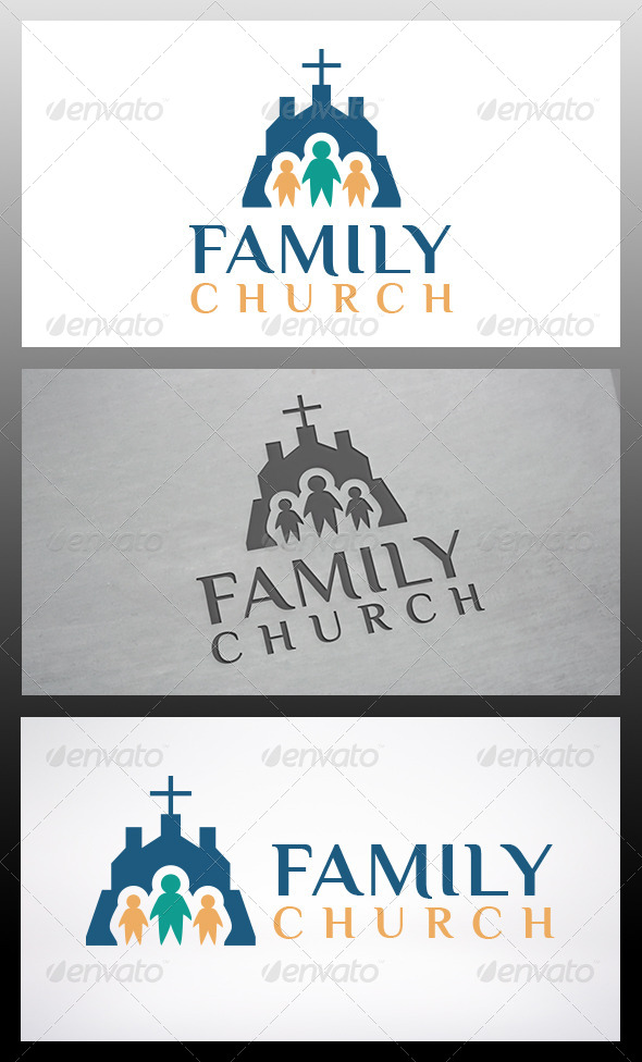 Church Family Logo Template - Humans Logo Templates