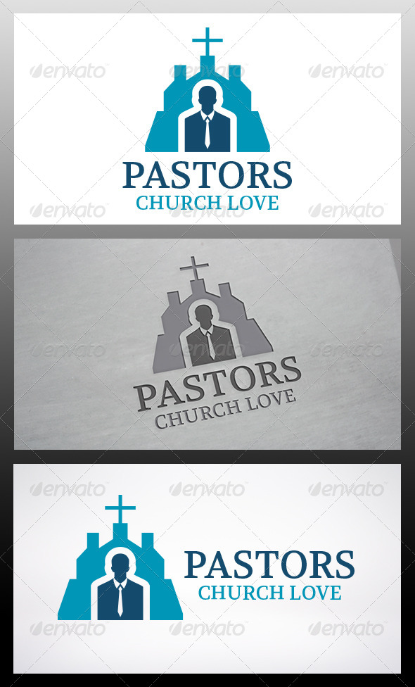 Pastor Church Logo Template - Humans Logo Templates
