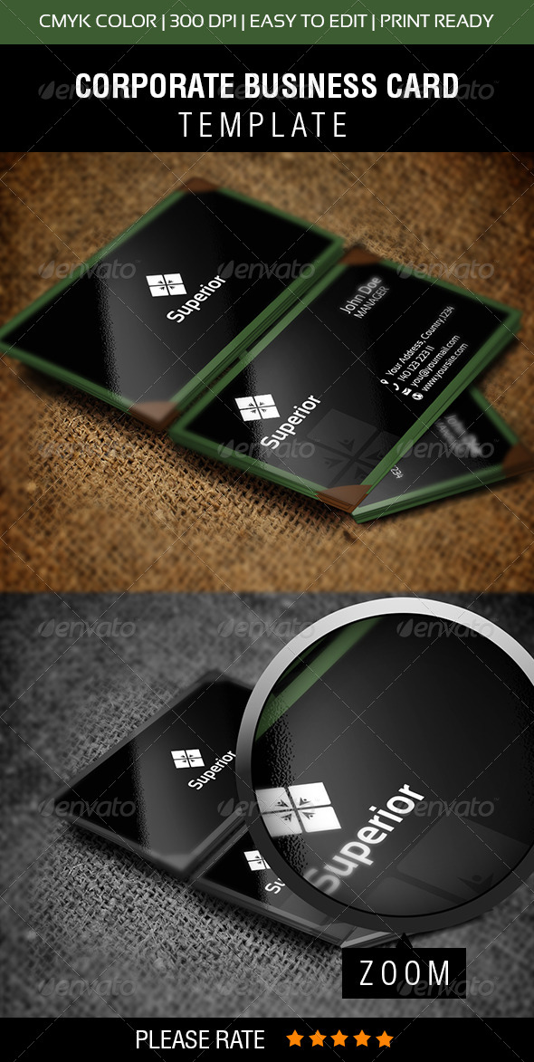 Superior Business Card - Corporate Business Cards
