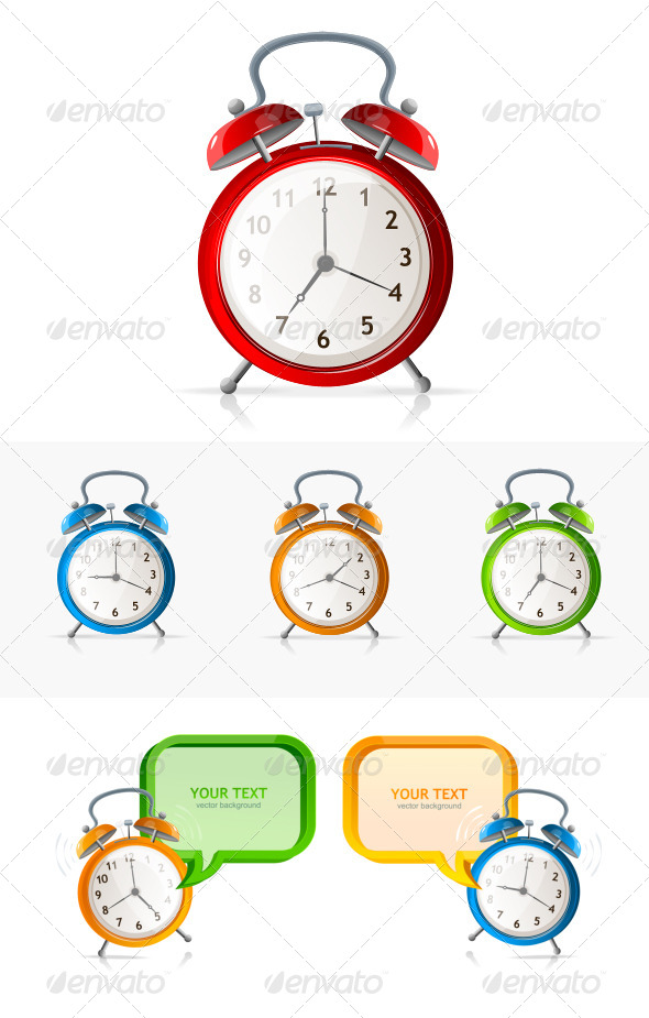 Alarm Clock Set and Concept - Sports/Activity Conceptual