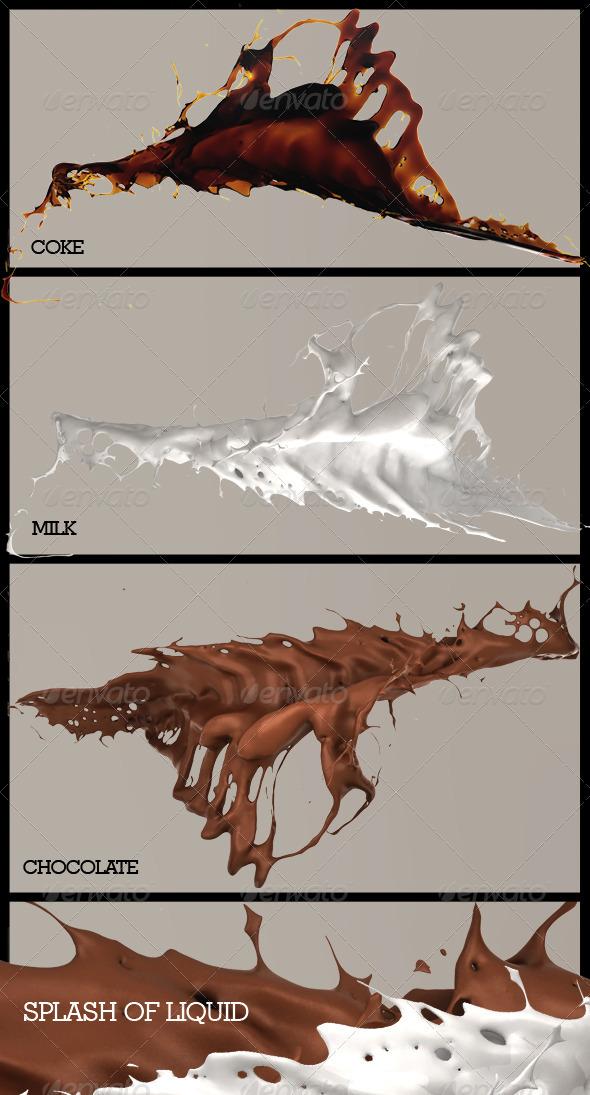 Liquid Splash - Abstract 3D Renders