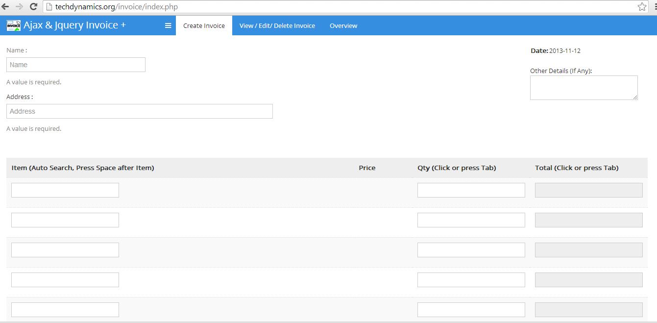 Ajax And Jquery POS Invoice Management System By Sabawasim - Invoice management system
