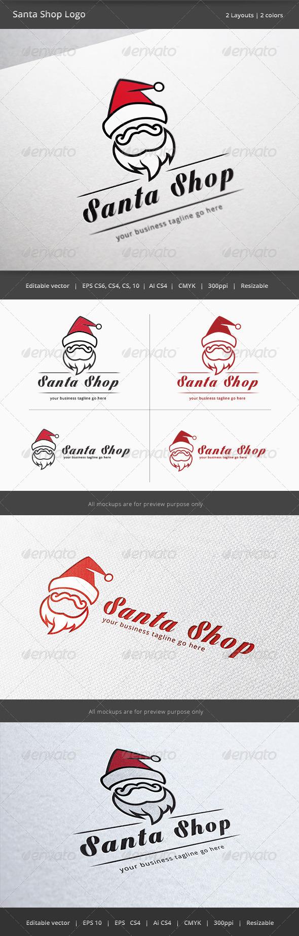 Santa Claus Shop Logo - Humans Logo Templates