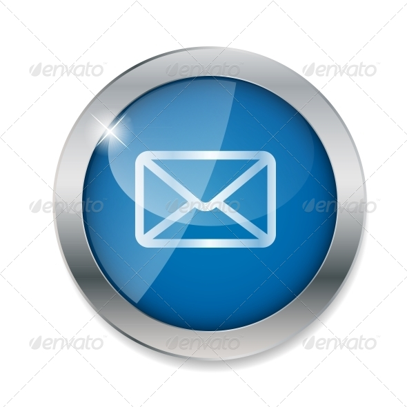 Mail Button Vector Illustration - Web Technology