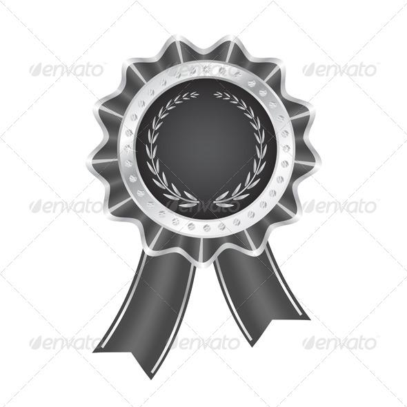 Gray Award Ribbon - Decorative Symbols Decorative