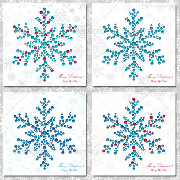 Snowflakes Made of Beads by 31moonlight31 | GraphicRiver