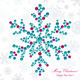 Snowflakes Made of Beads - GraphicRiver Item for Sale