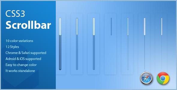 CSS3 Scrollbar Styles