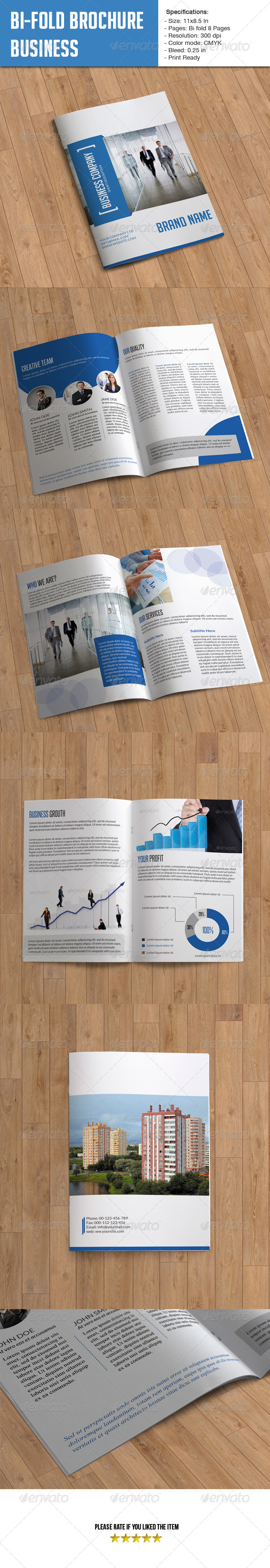 Bifold Brochure for Business- 8 Pages - Corporate Brochures