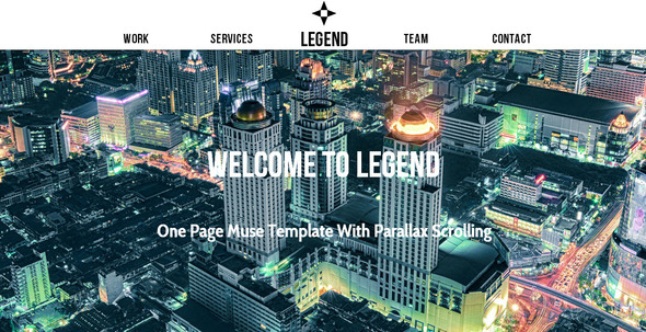 Legend - Multipurpose Muse Template - Creative Muse Templates