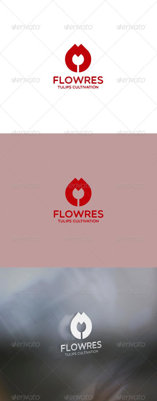 Flowres Logo - Nature Logo Templates