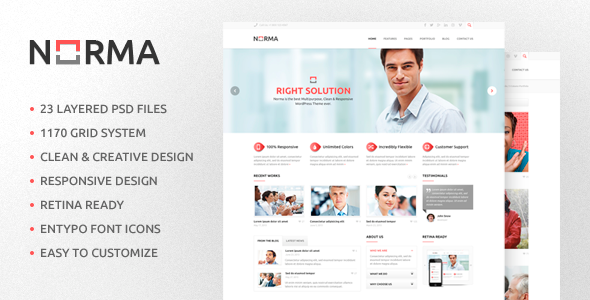 NORMA | Clean & Responsive HTML Theme - Corporate Site Templates