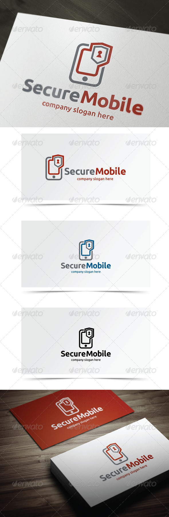 Secure Mobile - Symbols Logo Templates