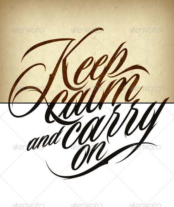 Tattoo Keep Calm and Carry On - Tattoos Vectors