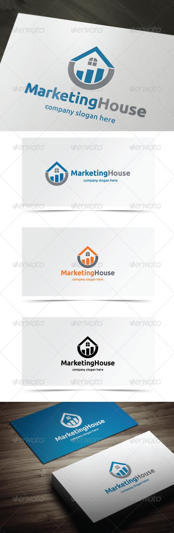 Marketing House - Symbols Logo Templates