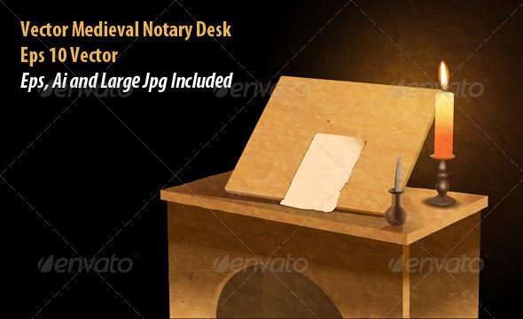 Notary Desk - Conceptual Vectors
