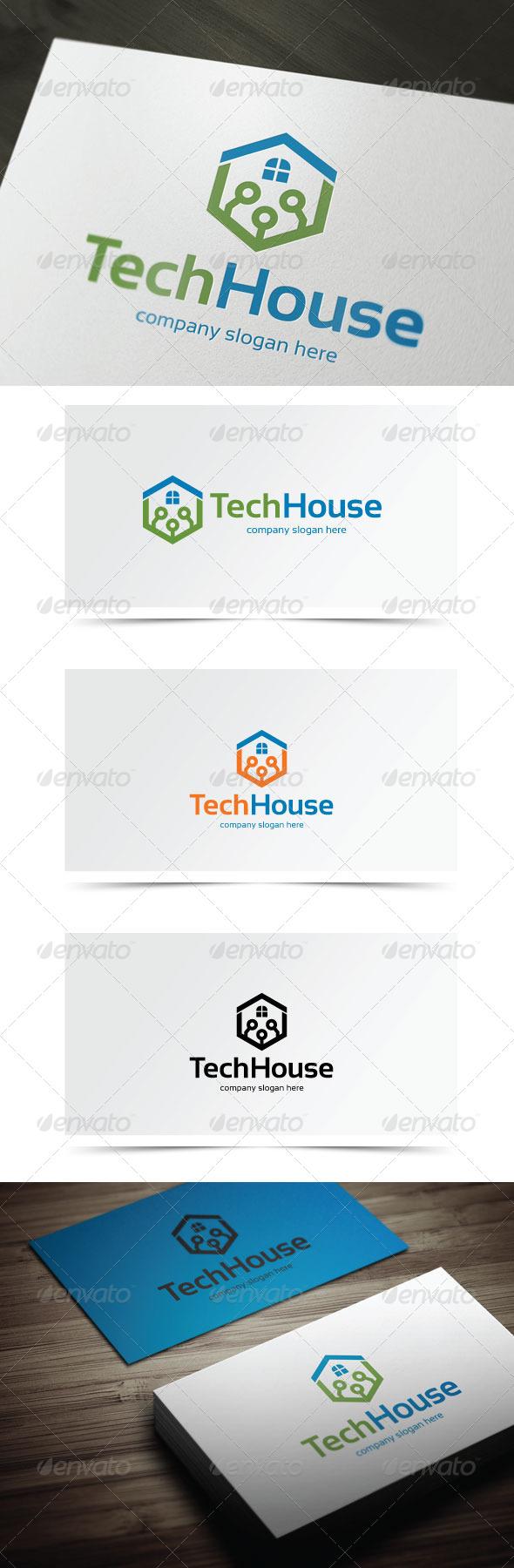 Tech House - Symbols Logo Templates