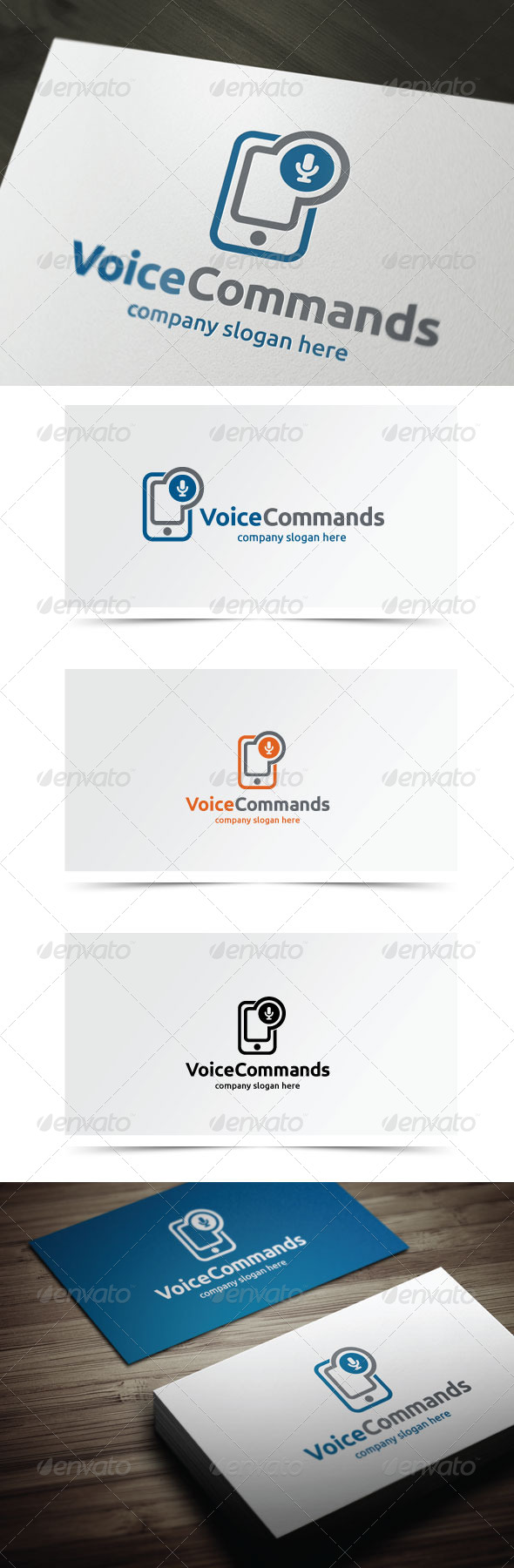 Voice Commands - Symbols Logo Templates