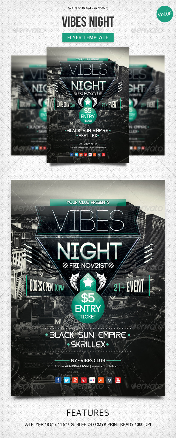 Vibes Night - Flyer [Vol.6] - Clubs & Parties Events