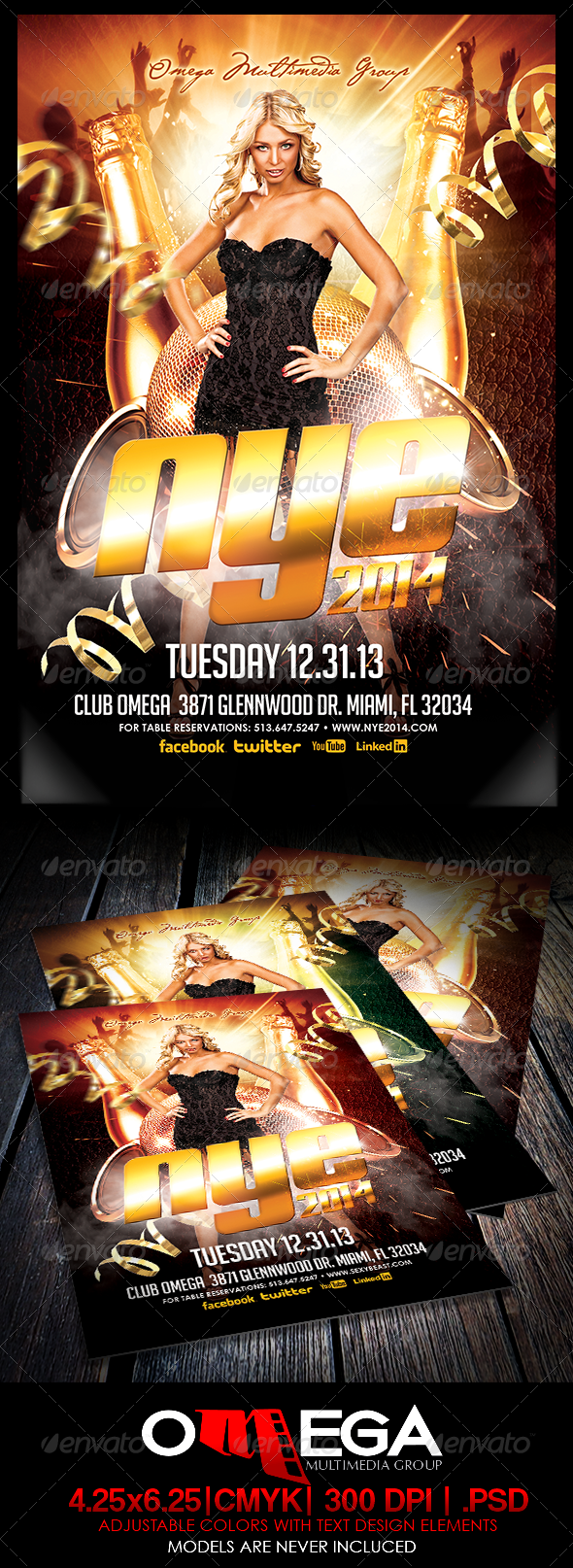 NYE 2014 - Events Flyers