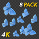 Butterfly Transition - Blue Adonis - Pack of 8 - 4K - VideoHive Item for Sale