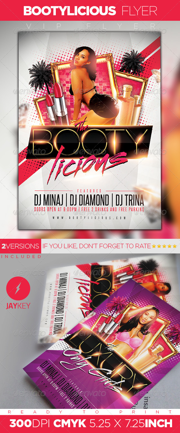 Bootylicious Party Flyer - Clubs & Parties Events