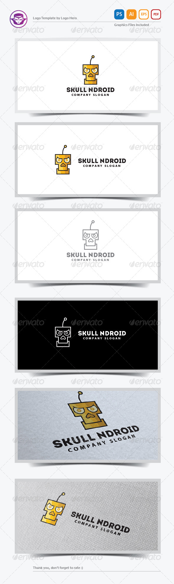Skull Ndroid Logo Template - Humans Logo Templates