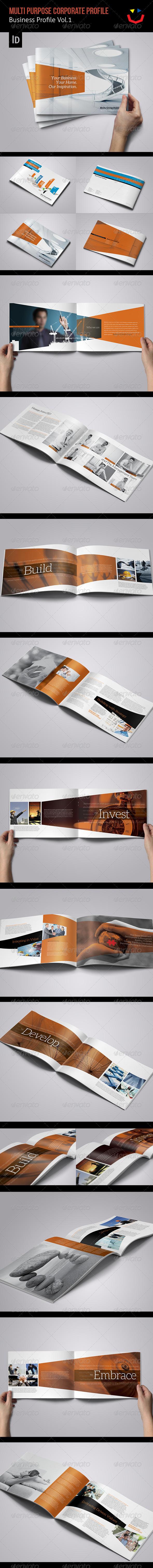 Corporate Business Profile Vol.1 - Brochures Print Templates