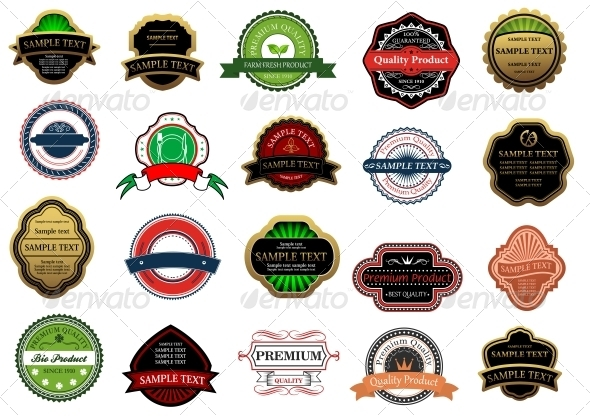 Labels and Banners - Web Elements Vectors
