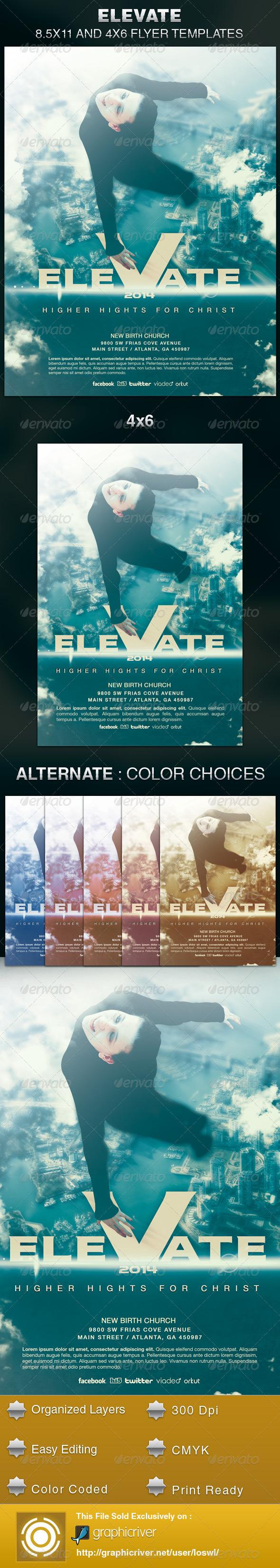 Elevate Church Flyer Template  - Church Flyers