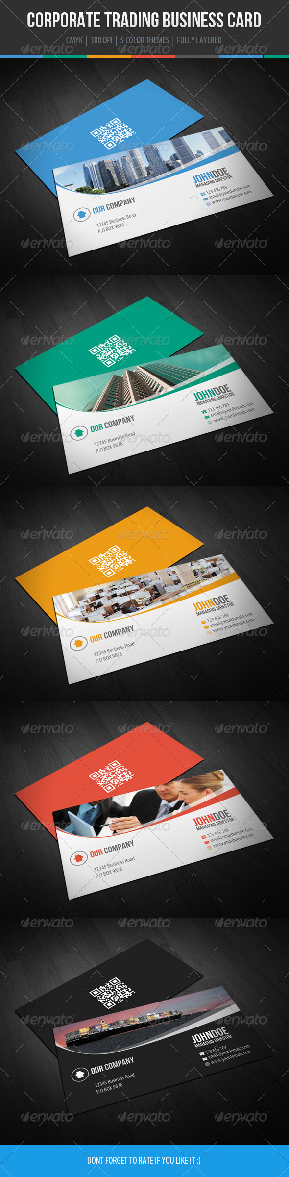 Corporate Trading Business Card Design - Corporate Business Cards