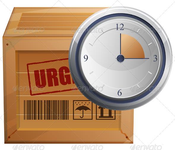 Logistics Time Managment - Illustration - Concepts Business