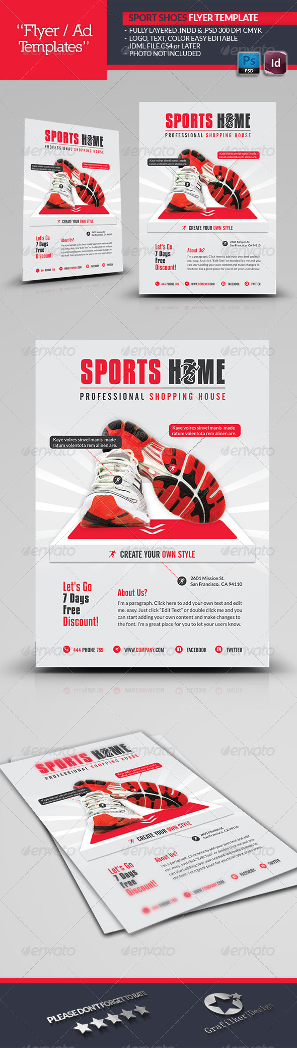 Sports House Flyer Template - Corporate Flyers