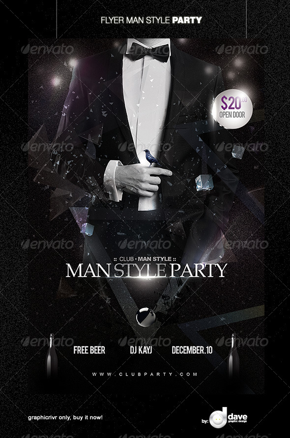 Flyer Man Style Party - Clubs & Parties Events
