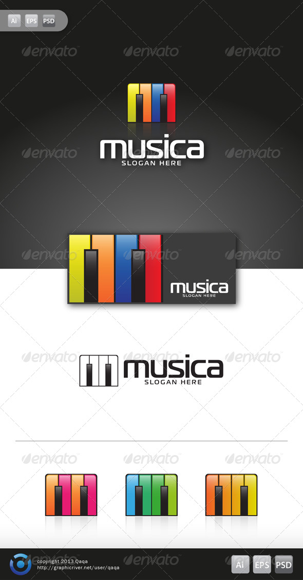 Music Logo - 01 - Objects Logo Templates