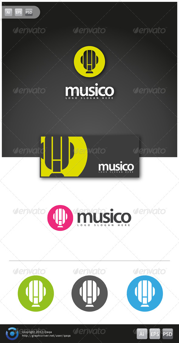 Music Logo - 02 - Objects Logo Templates