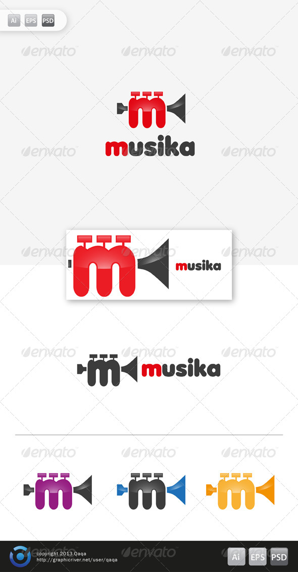 Music Logo - 03 - Objects Logo Templates