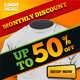 Promotion Holiday Monthly Discount Banner ad - GraphicRiver Item for Sale