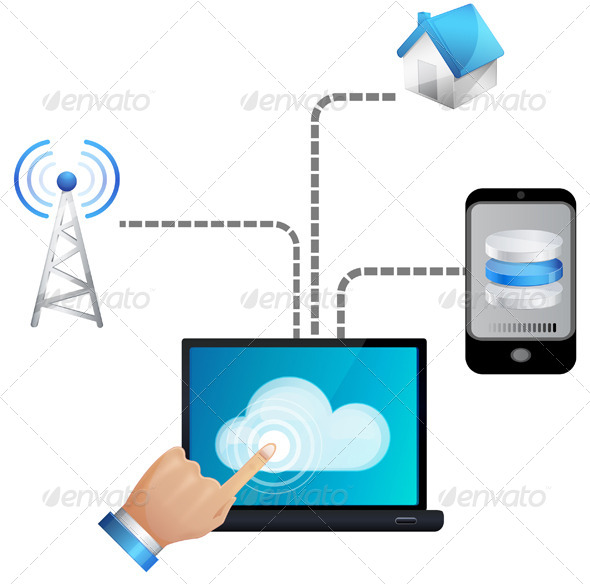 Seamless Cloud technology - Illustration - Technology Conceptual