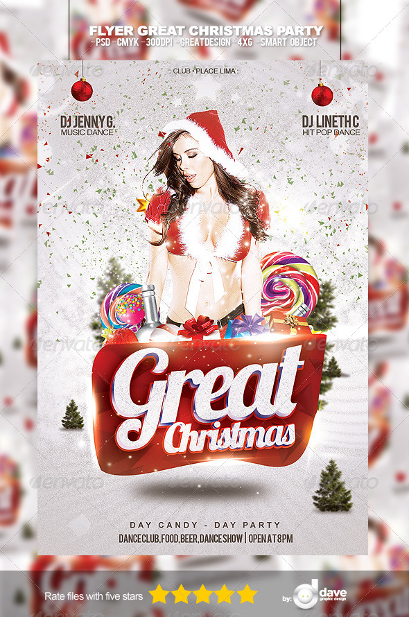Flyer Party Christmas - Clubs & Parties Events