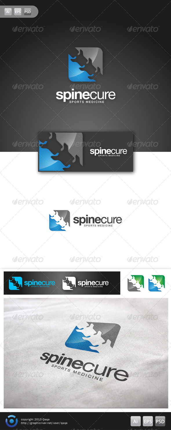 Spine Cure Logo - 02 - Logo Templates