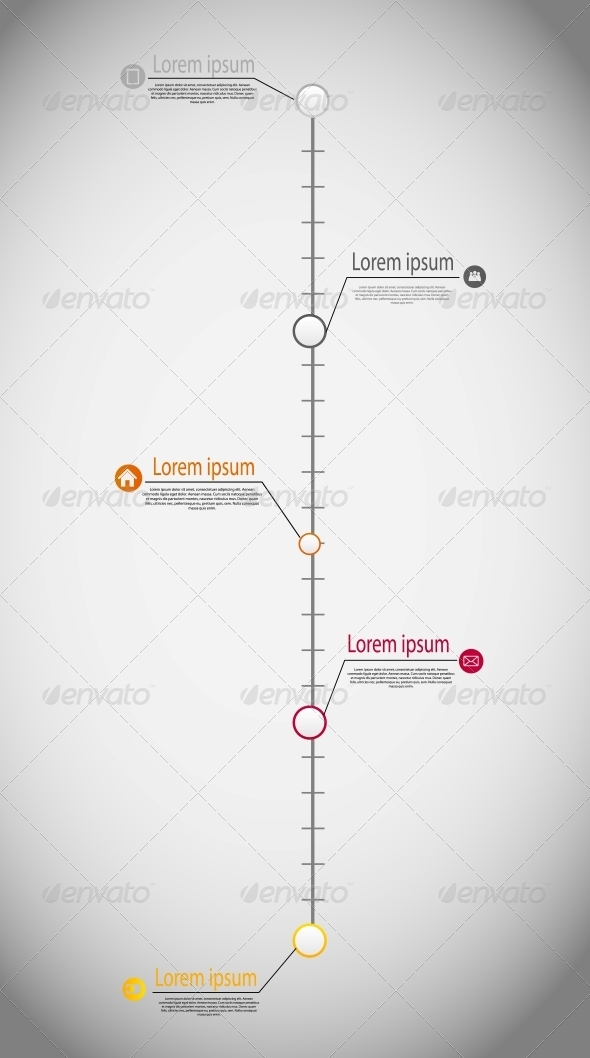 Timeline Infographic Business Template Vector - Infographics
