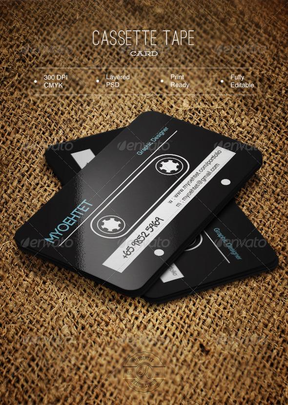Cassette Tape Card - Creative Business Cards