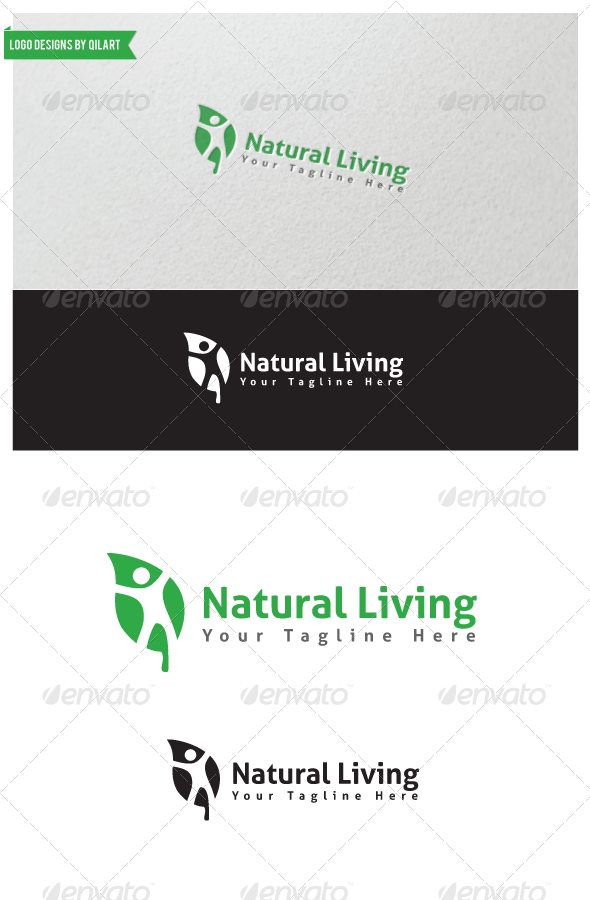 Natural Living - Abstract Logo Templates