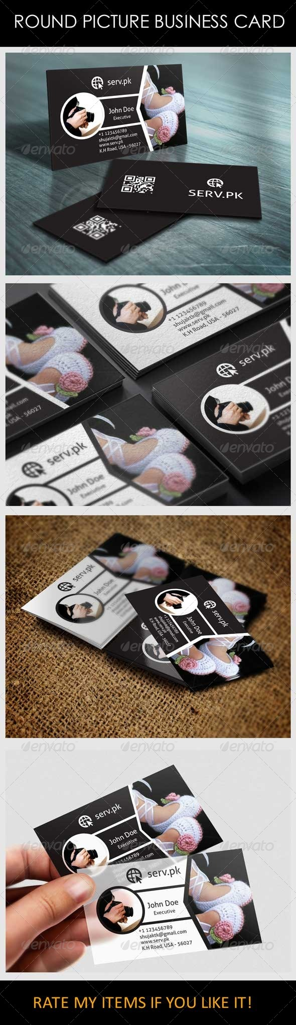 New Fashion Model Business Card - Industry Specific Business Cards
